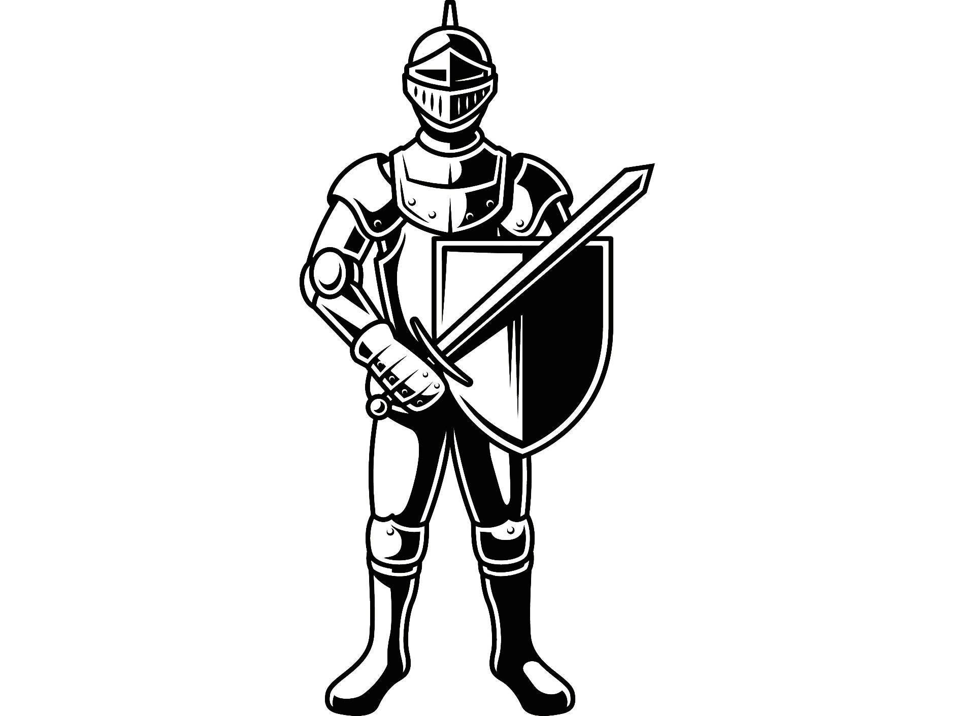 Knight 2 Metal Armor Helmet Sword Shield Monarch Military