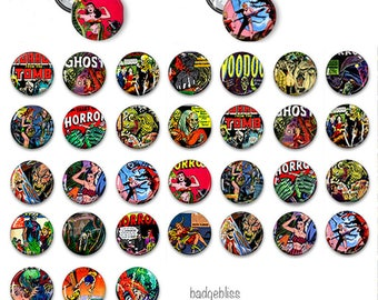 Horror pinback button badges
