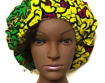 Satin lined ankara bonnet