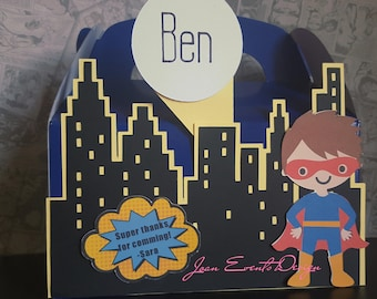 Superhero Personalized  party favors boxes