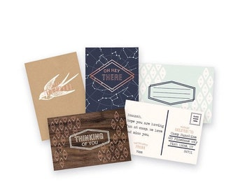Typecast Cards and Envelopes, Card Set, We R Memory Keepers Typecast Cards & Envelopes