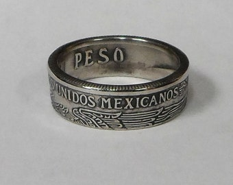 Sealed Ring hand made from Mexican Peso Coin