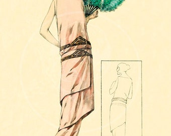 1923 French Fashion Catalog Page (17) - 10x14 Giclée Canvas Print