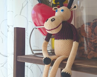 Crochet handmade toy Elk Rudy