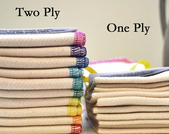 SECONDS  11x12 inches 2-Ply - Double Thick - Organic  Paperless Towels, or Napkins , Pack of 10 - Great Bargain - Size 11x12 inches