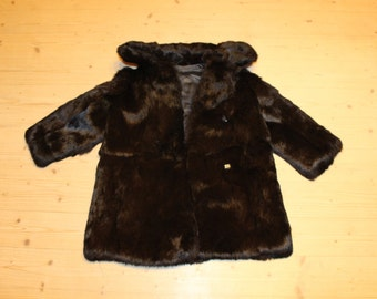 Kids fur coat Rabbit fur coat Childrens winter coat Soviet vintage kids fur coat Soviet kids clothing Vintage kids coat Real fur coat