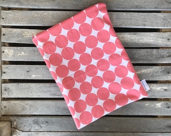 """10""""x13"""" Travel wet bag- Coral Dots-Optional Strap Available"""