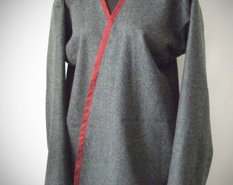 Early medieval viking coat, scandinavian Hedeby historical pattern