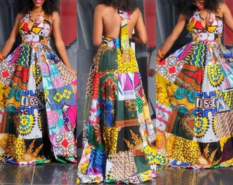 Beautifully Unique African Patchwork Dress