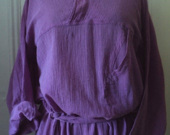 CAFTAN, GAUZE , Orchid Purple, Design Sample, One of a Kind, VINTAGE, Covent Garden, Handloom, Ethnic, India, Loungewear, One Size