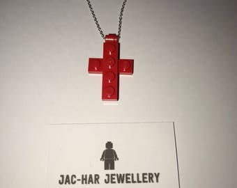 Lego cross on an 18inch (approx) stainless steel chain