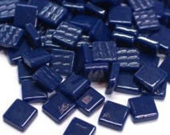 "12mm (1/2"") Cobalt Navy Blue Opaque Recycled Glass Square Mosaic Tiles//Mosaic Supplies//Craft Supplies//Mosaic Pieces"