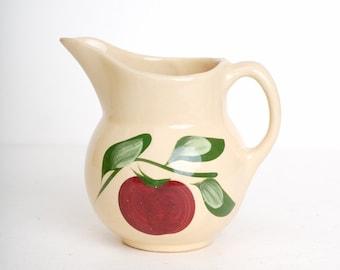 Vintage 50s WATT Pottery 15 Apple Milk Pitcher