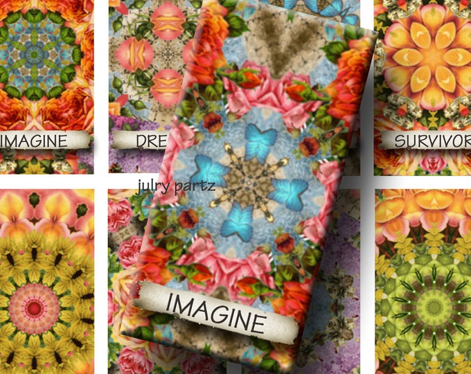 AUGUST GARDEN Affirmations 1x2 Images, Printable Digital Images, Cards, Gift Tags, Scrabble Tiles, Magnets