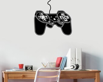 Gaming Zone Sign Vinyl Decal Gamepad Controller Sticker Video Game Logo Design Art Decorations for Home Boys Room Playroom Wall Decor gm3
