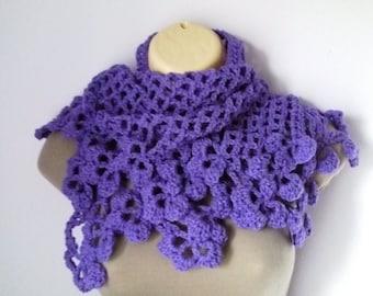 Crochet Shawl, Scarf , Neckwarmer women scarf, шарф, sjaal, bufanda, cachecol, sciarpa, Schal, foulard, echarpe