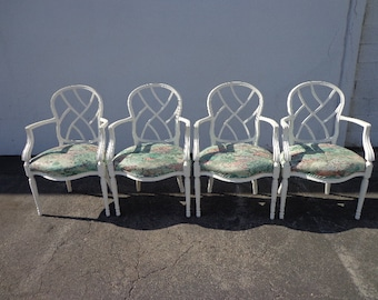 4 Florentine Armchairs by Heritage Furniture Dining Chairs Regency Shabby Chic Seating Armchair Chair Web Back Cottage French Provincial