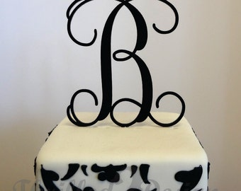6 inch Single Vine Letter Cake Topper - Celebrate, Party, Cake Decoration, Bride, Groom