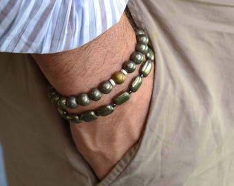 Pyrite and Hematite Bracelet