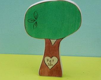 Wedding Cake Topper- Large Personalized Sweetheart Tree
