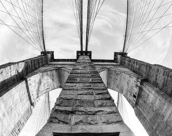 Brooklyn Bridge, New York Art, Abstract, Home Decor, Home Accent, Photography,Black & White,Prints, Architecture, City Scape