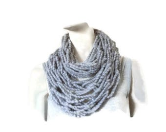 Womens Infinity Scarf, Circle Scarf, Arm Knit Scarf, Fashion Scarf, Wool wrap scarf
