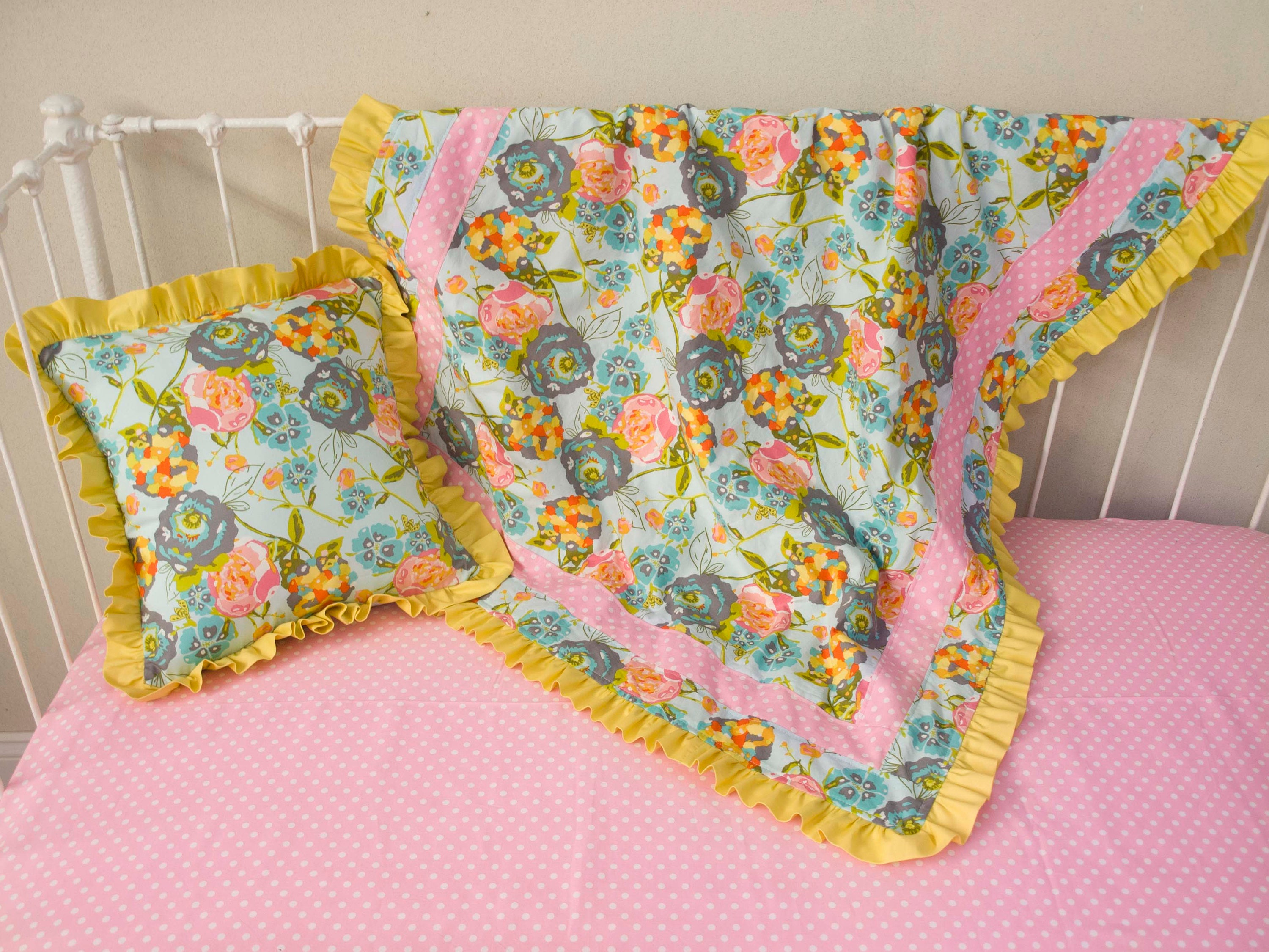 Turquoise Aqua Coral Yellow And Gray Decorative Pillow