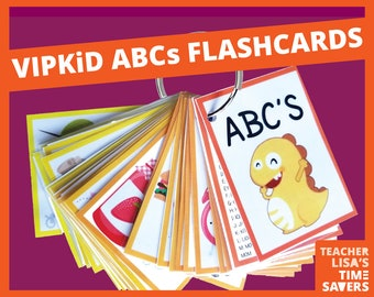 VIPKid Alphabet Flashcards: Includes TPR motions and VIPKid characters