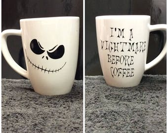 Nightmare before Christmas coffee cup