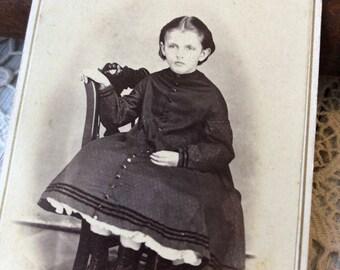 Little Girl - CDV carte de visite antique photograph