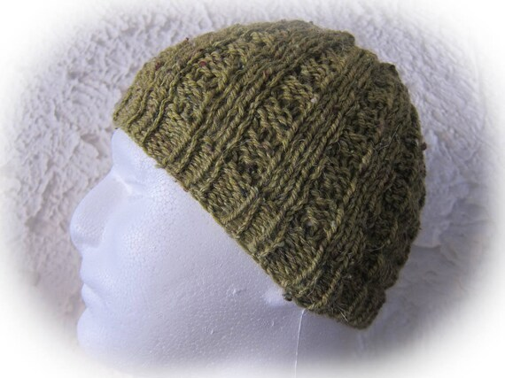 f49054e9bc5 Man hat in Heather Green checkerboard effect