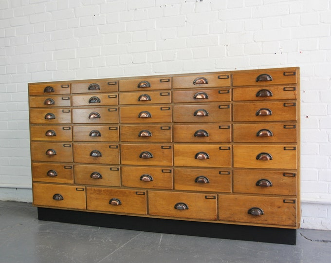 Large Mirror Fronted Haberdashery Drawers Circa 1930s