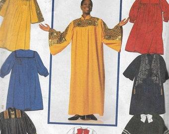 Simplicity 7336 Misses, Men's Or Teens Choir or Graduation Robes, XS-XL, UNCUT