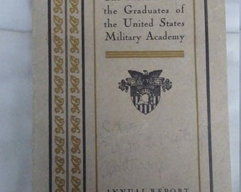 Spring Sale Vintage 1935 West Point Military Academy Annual Report