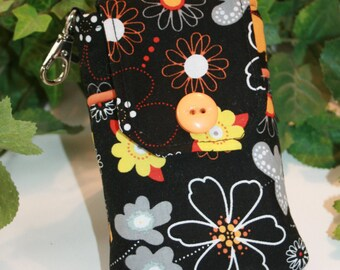 iPhone 4 case, Fabric Smartphone case, Droid case, iPod touch case, iPhone 5 case, iPhone 4s case, iPhone Case, Blackberry, Orange Floral