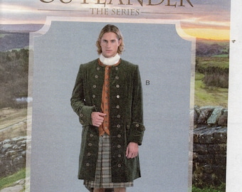 NEW COSTUME OUTLANDER The Series McCall's Costumes Pattern 7762 Coat  Men's Sizes 46 48 50 52