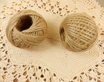 Natural Twine, 30m Jute Twine, Rustic Wedding, Flower Arranging Decoration, Natural String, Ball of Twine