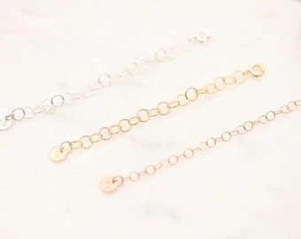 Extender Chains • Chain Extension • Necklace Extender • 14k Gold Filled Extension Chai • 14k Rose Gold Filled Extension • Bracelet Extension