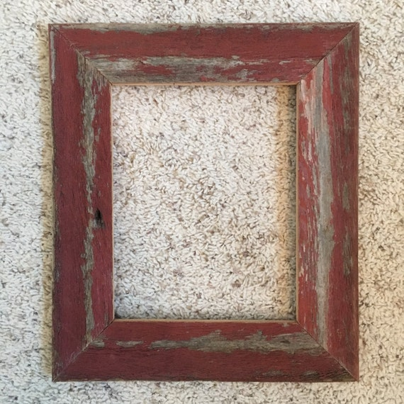 8x10 Distressed Red Barnwood Frames 538