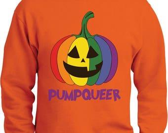 PUMPQUEER Rainbow Gay Pride Halloween Sweatshirt