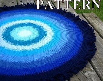 Rug crochet pattern round rug crochet rug pattern rug crochet round rug crochet pattern area rug crochet pattern rug OlgaAndrewDesigns069