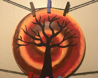 Handpainted Dormant Tree Silhouette
