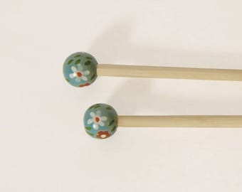 7 handcrafted bamboo knitting needles