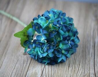 Floral hydrangea stems floral arrangements hand blended blue hydrangea artificial silk hydrangea 10 stems blooms light blue hydrangea flowers for wedding decoration centerpieces mightylinksfo