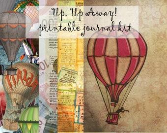Up, Up Away! Hot Air Balloon Printable Journal kit- link