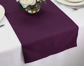 Plum Polyester Table Runner | Wedding Table Runners