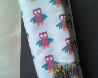 """Creation of printed tissue pattern """"owls"""""""