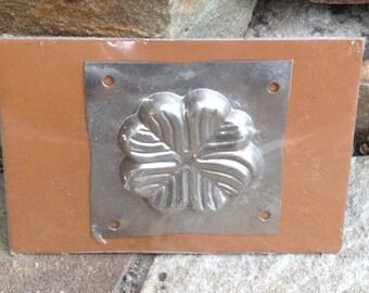 Vintage Metal Tin Chocolate Mold Clover Sealed