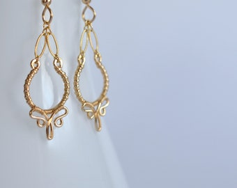 Nolita - 14k Gold Filled Earrings | Delicate Gold Dangles | Lightweight Earrings | Every Day Earrings
