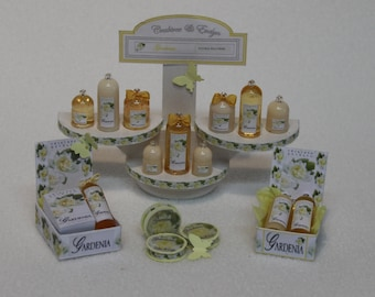 Crabtree & Evelyn Miniature perfumes, GARDENIA, 1/12th scale - Various displays, Exclusive, Limited.